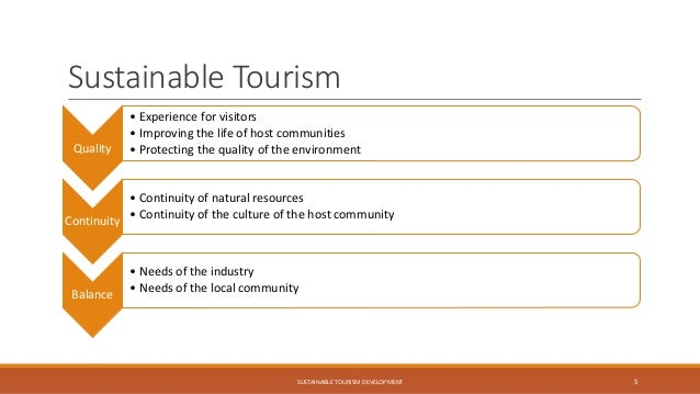 sustainable development and tourism destination management Research article sustainable tourism development: how do destination stakeholders perceive sustainable urban tourism.