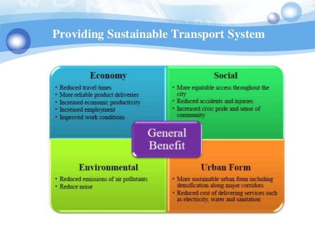 Providing Sustainable Transport System