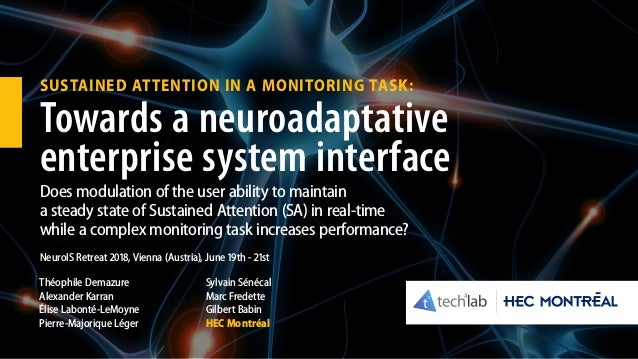 SUSTAINED ATTENTION IN A MONITORING TASK: Towards a neuroadaptative enterprise system interface Does modulation of the use...