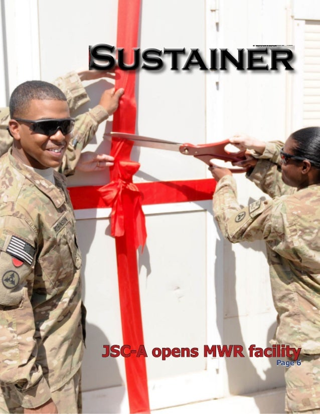 November2012    Sustainer   Published in the interest of Joint Sustainment Command - Afghanistan Soldiers and their Famili...