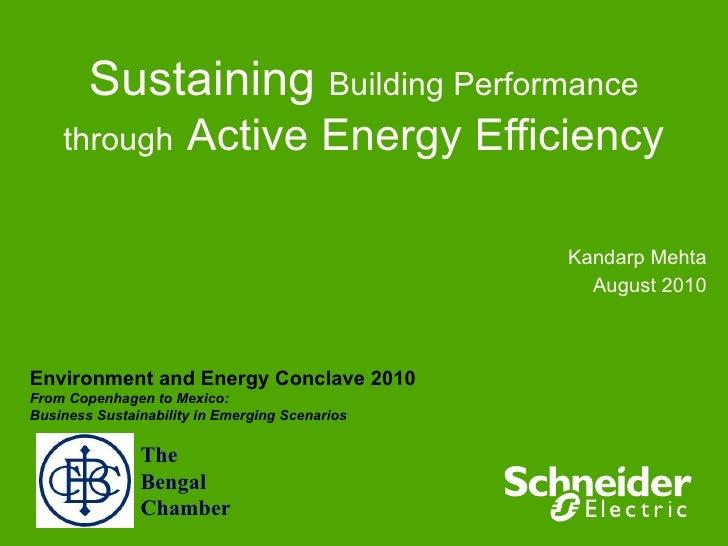 Sustaining Building Performance Thro Active Energy Efficiency