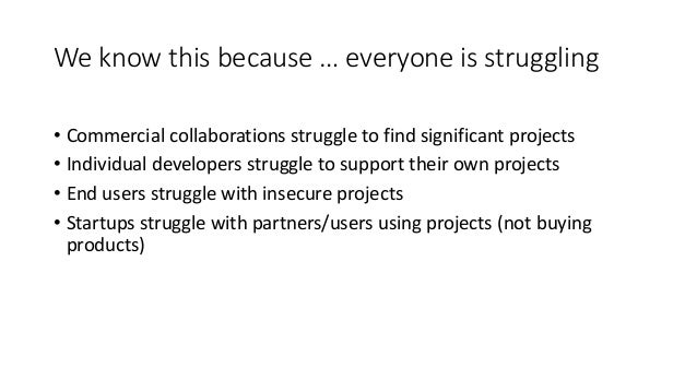 Sustaining Open Source Software Slide 3