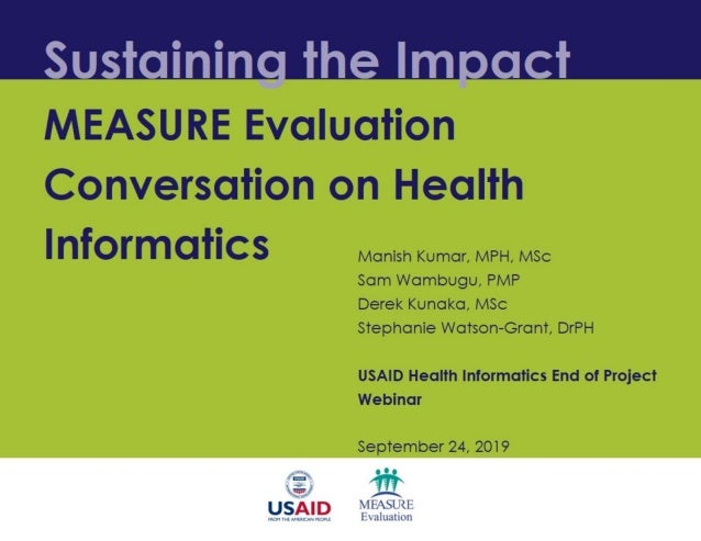 Sustaining the Impact: MEASURE Evaluation Conversation on Health Informatics