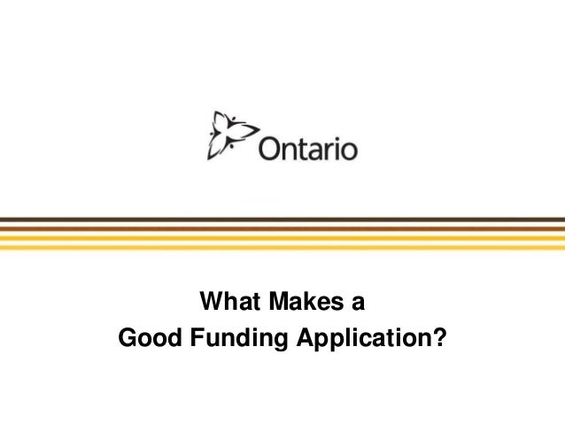 What Makes a Good Funding Application?
