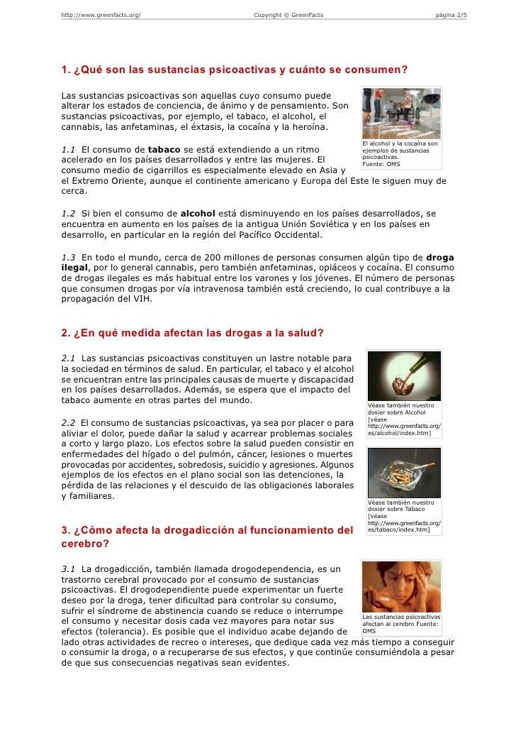 Sustancias psicoactivas - tabaco, alcohol y sustancias ilegales  Slide 2