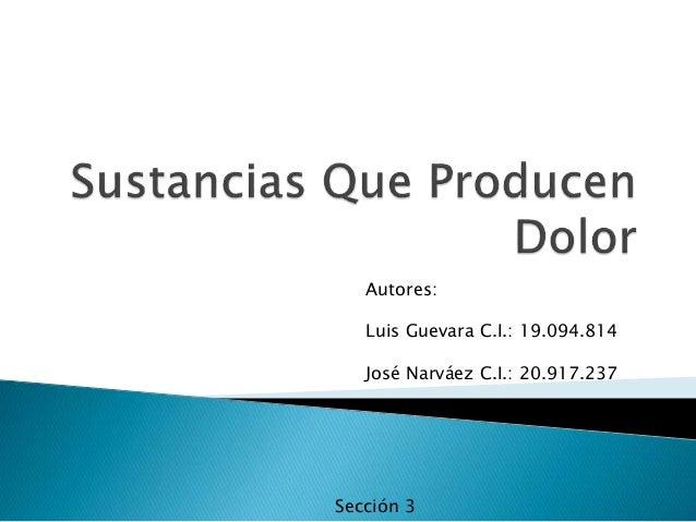 Autores: Luis Guevara C.I.: 19.094.814 José Narváez C.I.: 20.917.237 Sección 3
