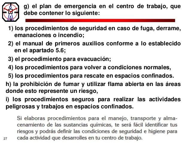 Manejo de sustancias quimicas for Manual de procedimientos de alimentos y bebidas de un hotel