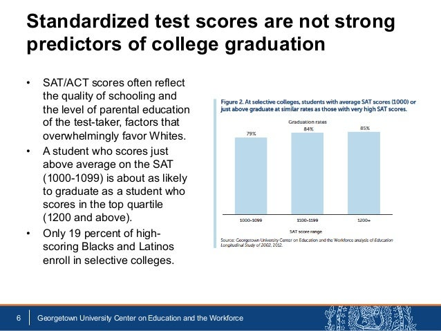 • SAT/ACT scores often reflect the quality of schooling and the level of parental education of the test-taker, factors th...