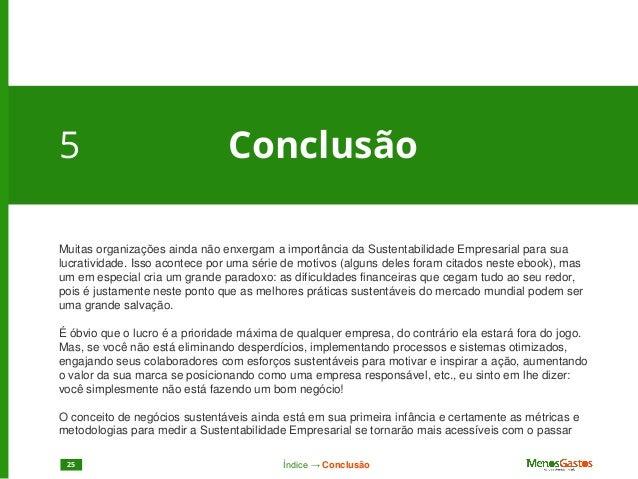 Sustentabilidade minorizar gastos ndice cases de sucesso24 25 fandeluxe Images