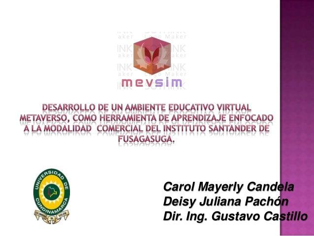 Carol Mayerly CandelaDeisy Juliana PachónDir. Ing. Gustavo Castillo