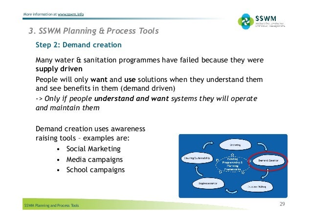 SSWM Planning and Process Tools More information at www.sswm.info Step 2: Demand creation 29 Many water & sanitation progr...