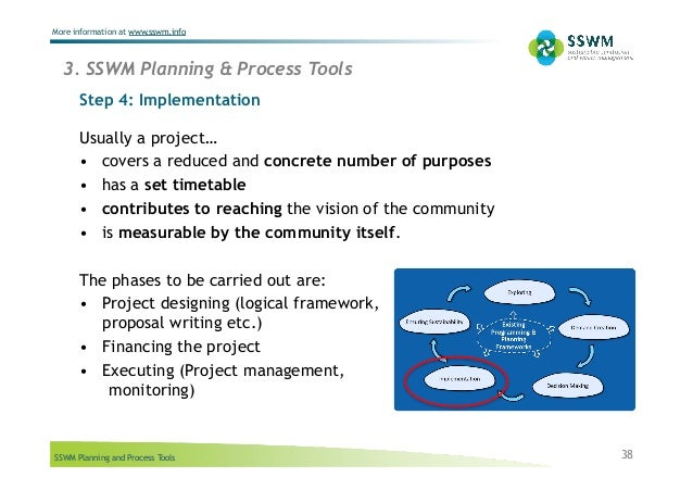 SSWM Planning and Process Tools More information at www.sswm.info 3. SSWM Planning & Process Tools Step 4: Implementation ...