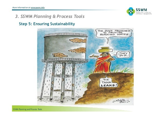 SSWM Planning and Process Tools More information at www.sswm.info 3. SSWM Planning & Process Tools Step 5: Ensuring Sustai...