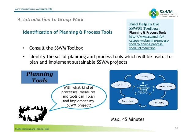 SSWM Planning and Process Tools More information at www.sswm.info Identification of Planning & Process Tools 4. Introducti...