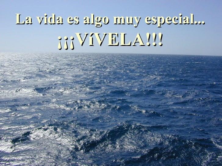 La vida es algo muy especial... ¡¡¡VíVELA!!!