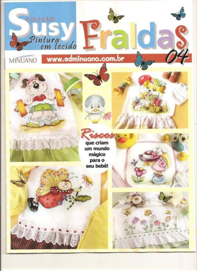 Revista Coleção Susy Pintura em Tecidos - Fraldas nº 4