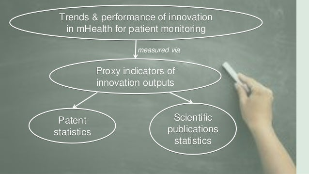 Trends & performance of innovation in mHealth for patient monitoring Proxy indicators of innovation outputs Patent statist...