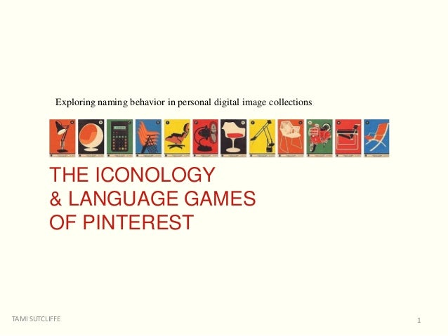 TAMI SUTCLIFFE OCTOBER 17, 2014 Exploring naming behavior in personal digital image collections 1 THE ICONOLOGY & LANGUAGE...