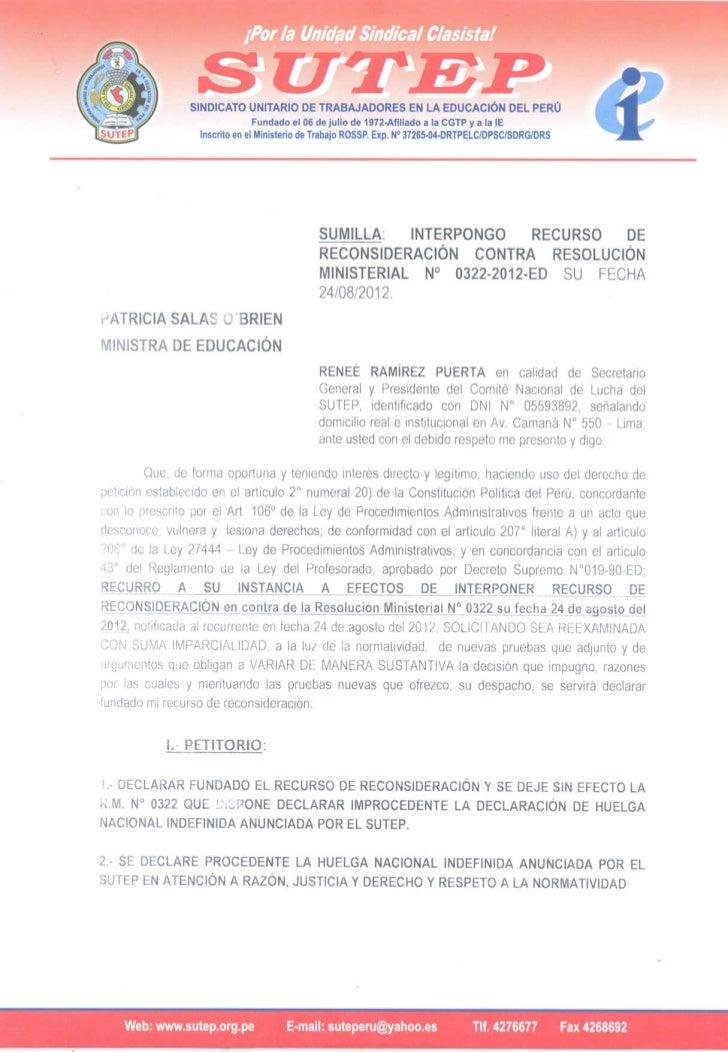 SUTEP responde al MINEDU sobre legalidad de X HNI