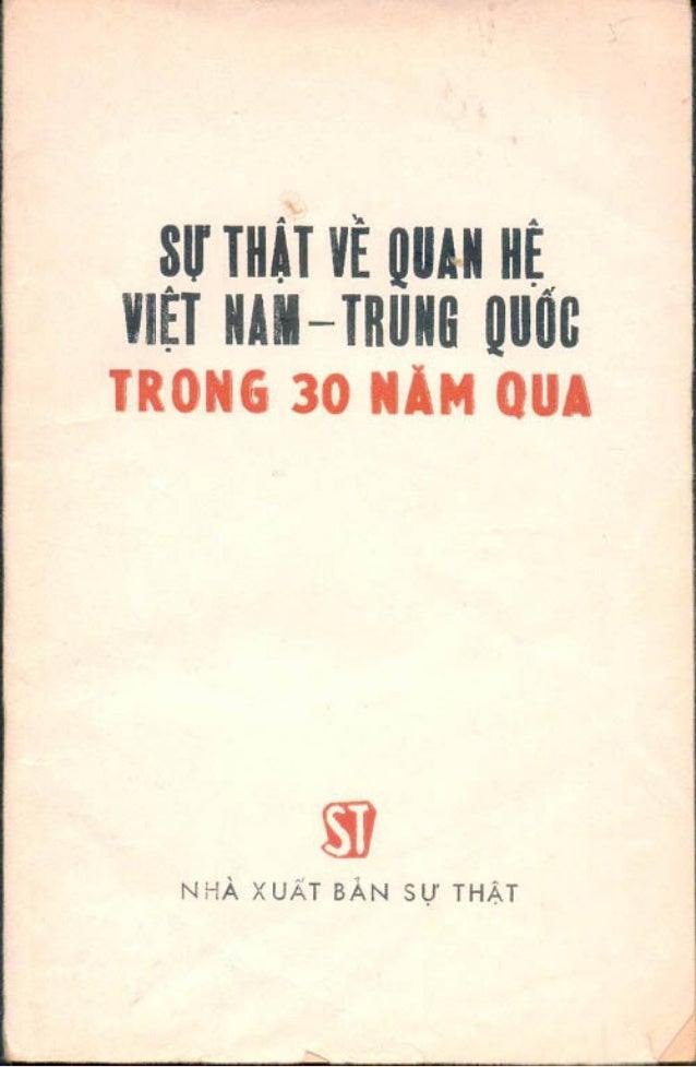 Sự thật về quan hệ Việt Trung
