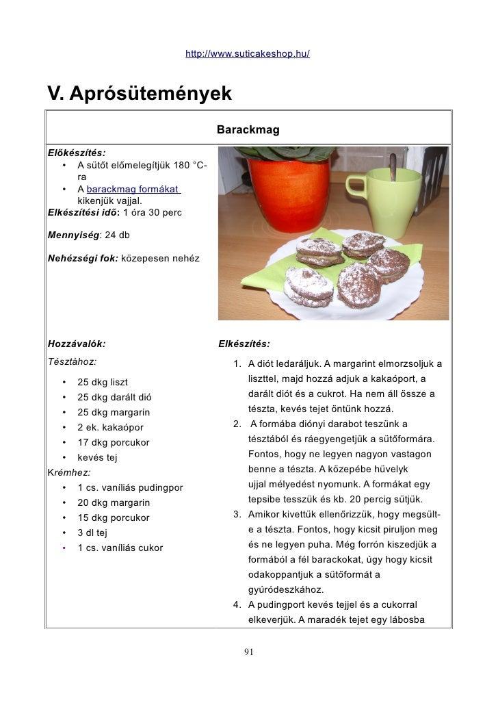 http://www.suticakeshop.hu/V. Aprósütemények                                      BarackmagElőkészítés:   • A sütőt előmel...
