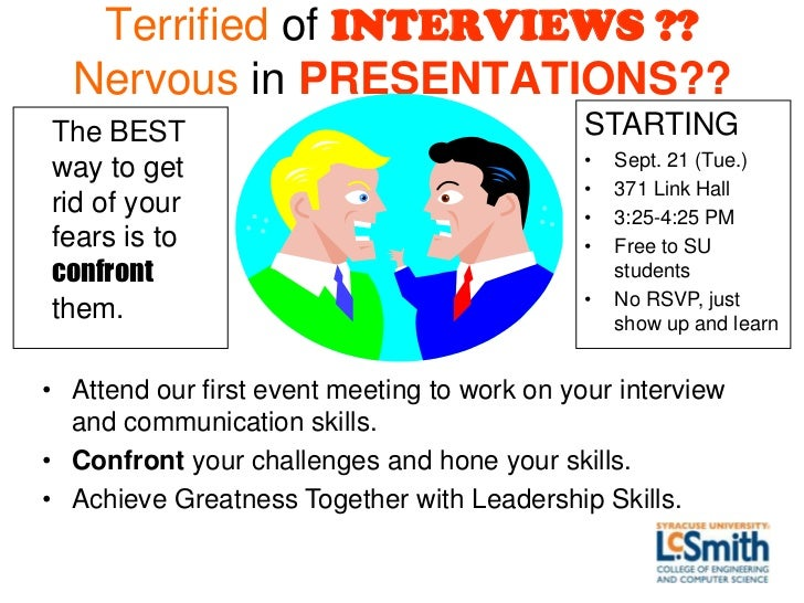 Terrified of INTERVIEWS ??  Nervous in PRESENTATIONS??The BEST                                      STARTING              ...