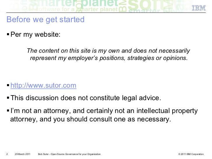 Open Source Governance for your Organization Slide 2