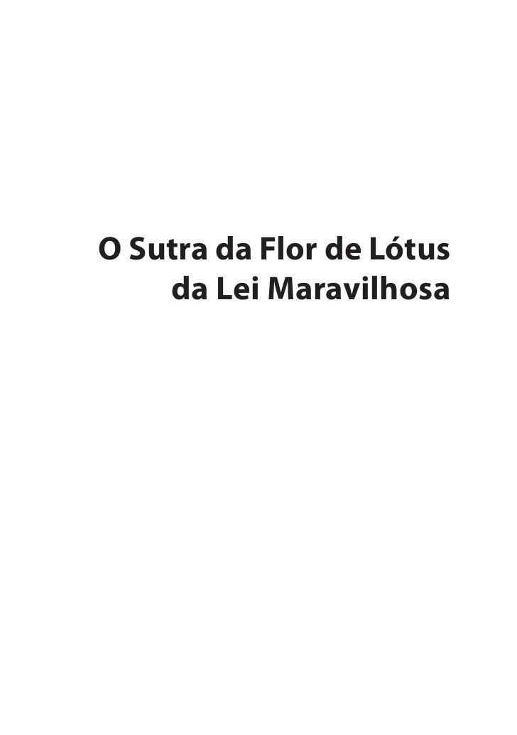 O Sutra da Flor de Lótus    da Lei Maravilhosa
