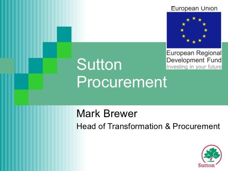 Sutton Procurement Mark Brewer Head of Transformation & Procurement