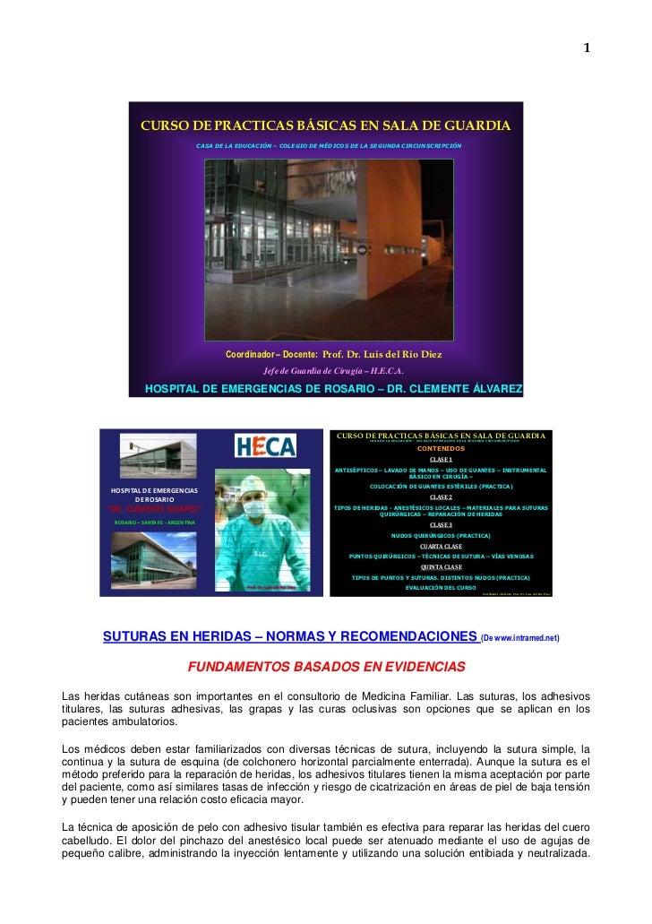 1                    CURSO DE PRACTICAS BÁSICAS EN SALA DE GUARDIA                                            CASA DE LA E...