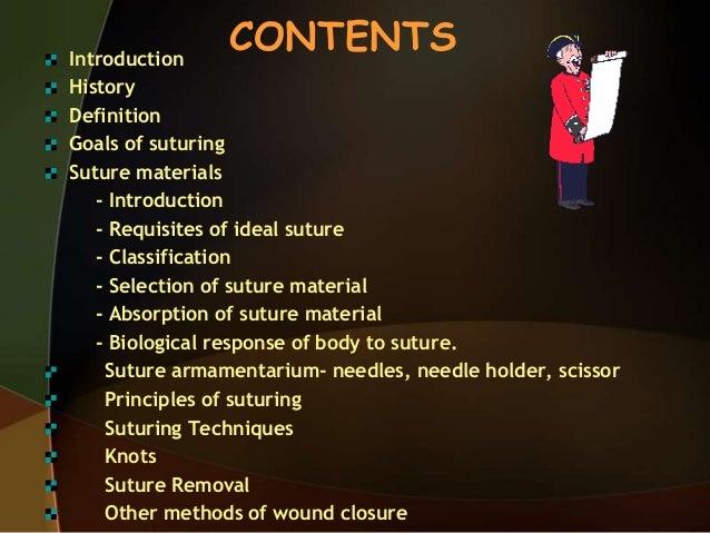 Sutures materials.