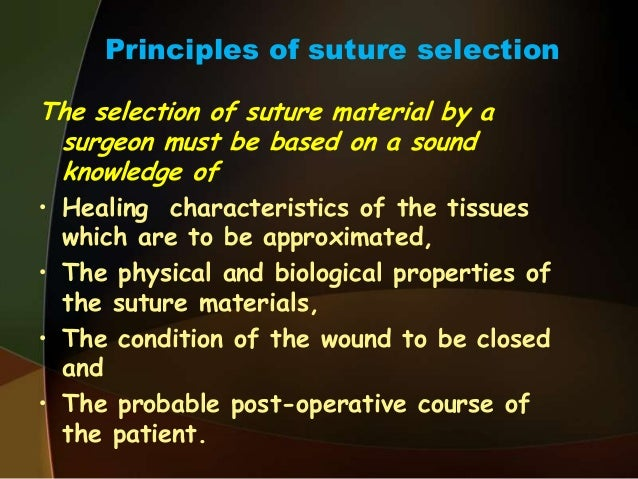 Suture materials & suturing techniques dr. Ayesha.