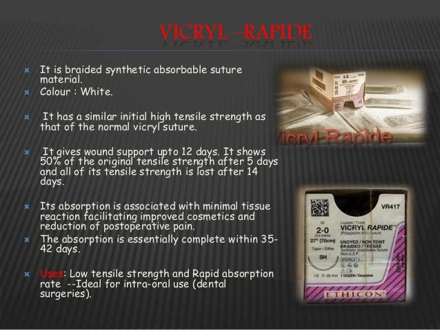 VICRYL PLUS ANTIBACTERIAL SUTURE  Handles and performs same as normal vicryl.  In vitro studies shown that triclosan on ...