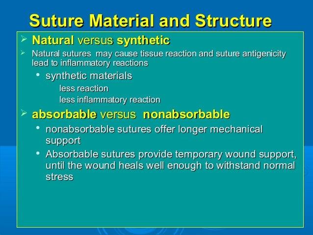 Suture types & comparison training ppt.