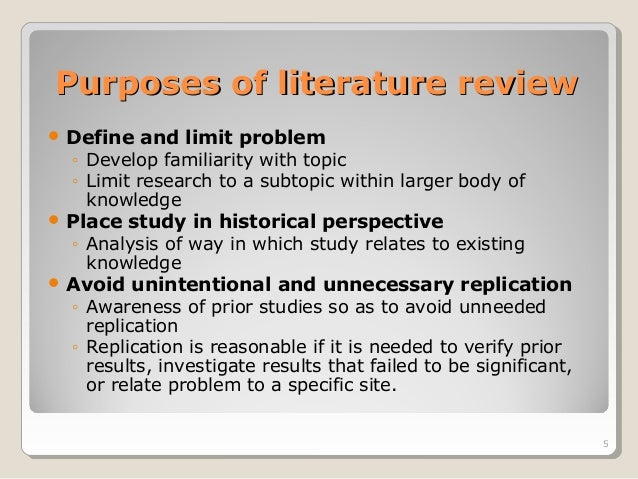 importance of literature review in thesis Doing a careful and thorough literature review is essential when you write about  research at any level it is basic homework that is assumed to.