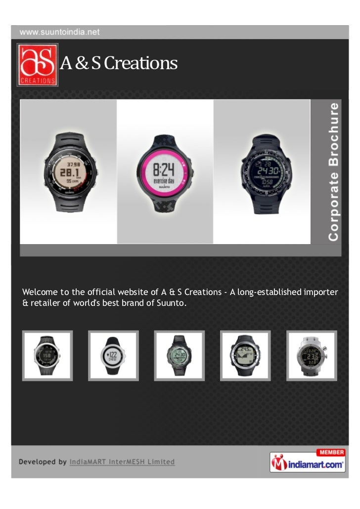 Welcome to the official website of A & S Creations - A long-established importer& retailer of worlds best brand of Suunto.