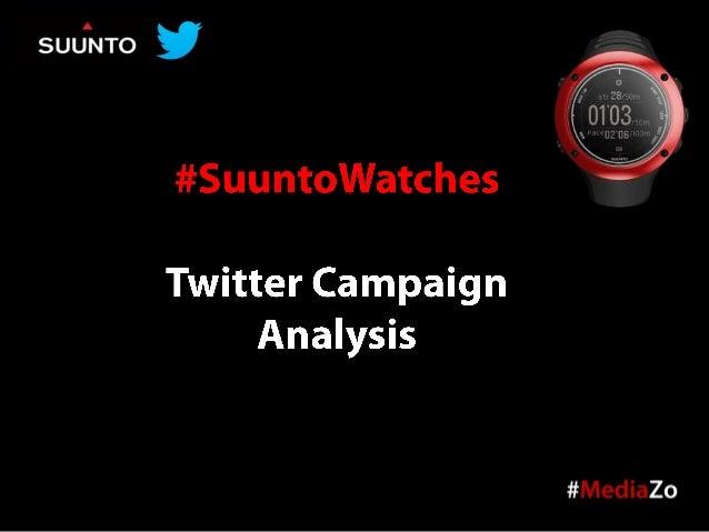 #SuuntoWatches Twitter Campaign Analysis