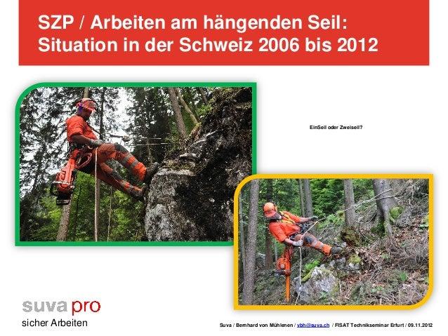 SZP / Arbeiten am hängenden Seil:   Situation in der Schweiz 2006 bis 2012                                                ...