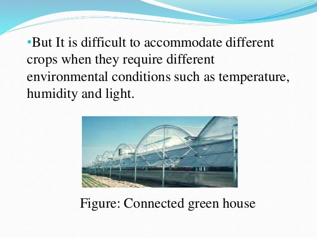 Green House And Effect Of Green House On Nursery Establishment