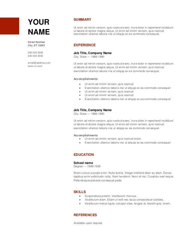 Resume Copy Resume Format Download Pdf Resume Free Resume Templates  Soft Copy Of Resume