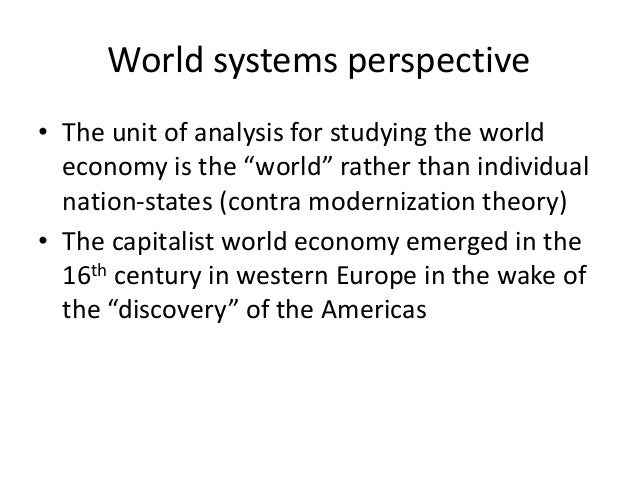 """an analysis of the concept behind the modernization and dependency theories Through thorough analysis of the readings, this essay will discuss modernization and dependency theory in greater detail involving their outlook on development and their similarities and differences modernization theory provides a highly """"eurocentric"""" view of development (rice, 2012)."""