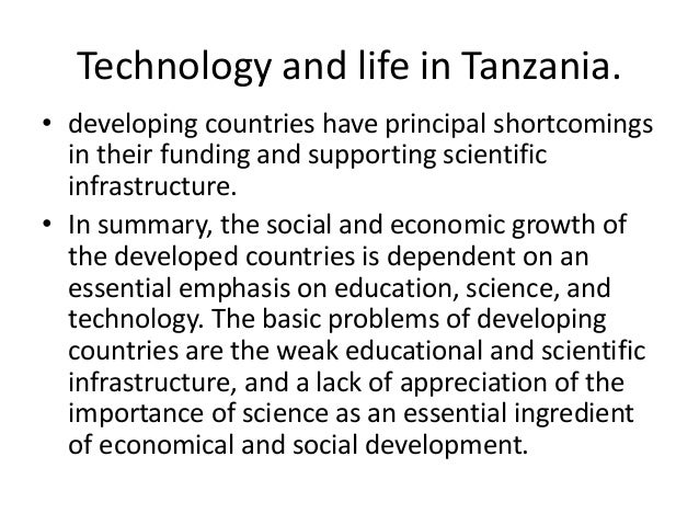 importance of technology in developing countries