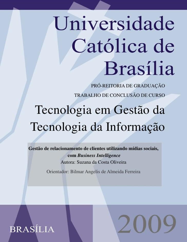 1                                   PRÓ-REITORIA DE GRADUAÇÃO                       TRABALHO DE CONCLUSÃO DE CURSO    Tecn...