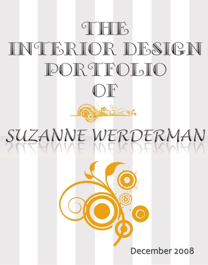 Suzanne Werderman Interior Design Student Portfolio
