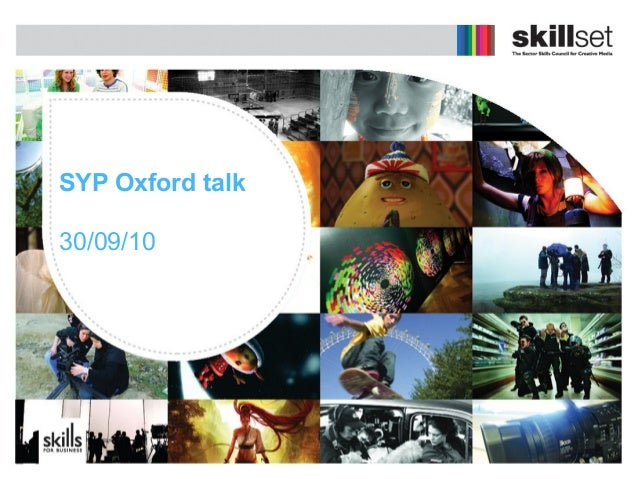 SYP Oxford talk 30/09/10