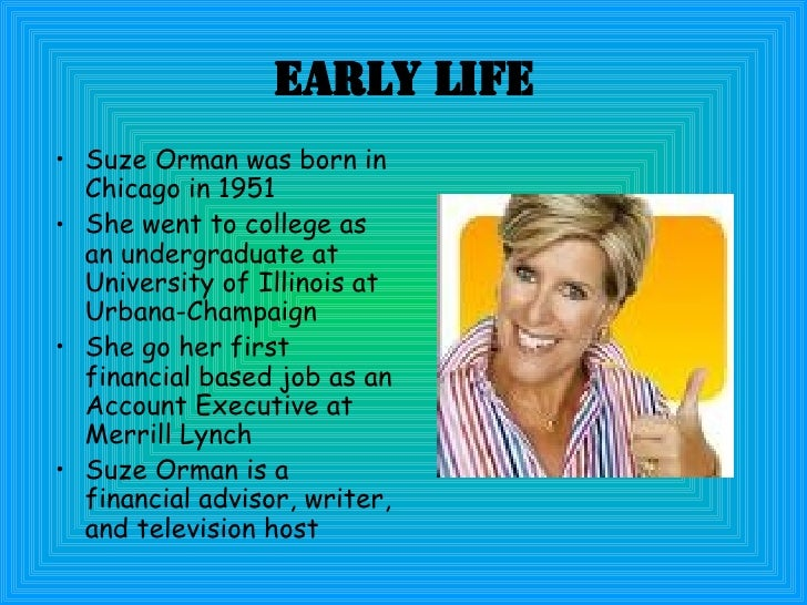 suze orman tips