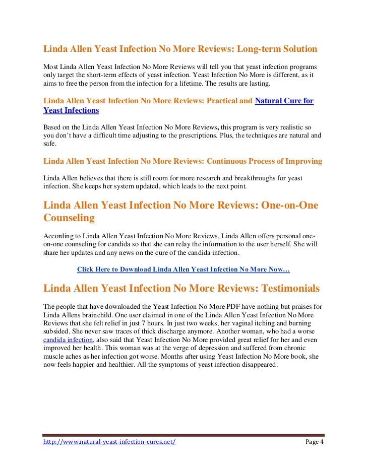 Yeast Infection No More System by Linda Allen – Full Review