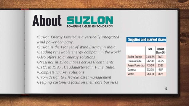 suzlon case analysis Study of the suzlon-hansen merger study of the suzlon-hansen merger 3666 words dec 6th, 2007 15 pages  essay on activision blizzard merger case study analysis.