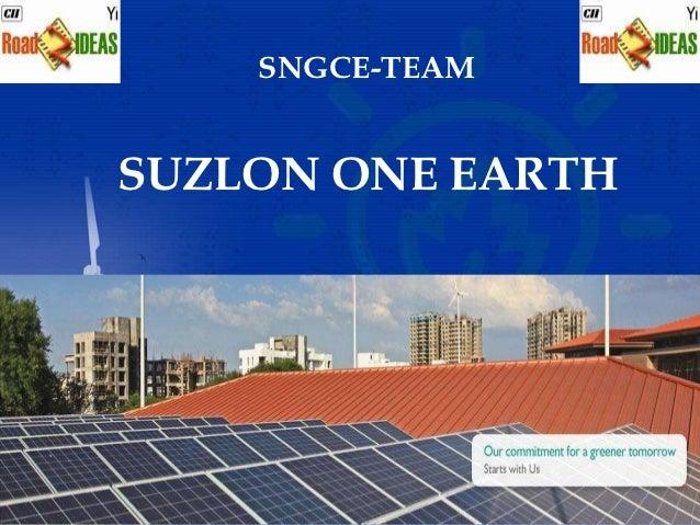 SNGCE-TEAMSUZLON ONE EARTH