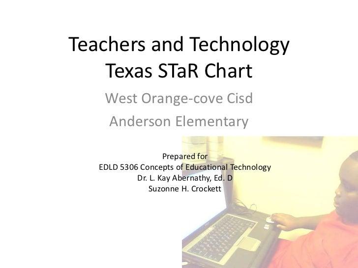 Teachers and TechnologyTexas STaR Chart<br />West Orange-cove Cisd<br />Anderson Elementary<br />Prepared for<br />EDLD 53...